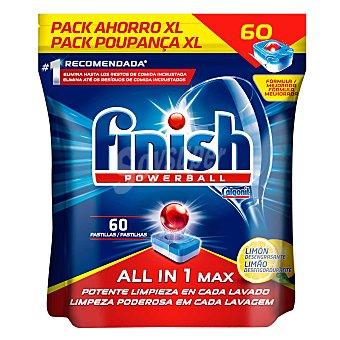 Finish Lavavajillas máquina Todo en 1 aroma limón Calgonit en pastillas Finish 60 ud