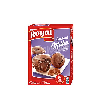 Royal Preparado de coulant rellenos de chocolate Milka 195 g