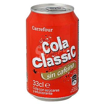 Carrefour Refresco de cola sin cafeina Lata de 33 cl