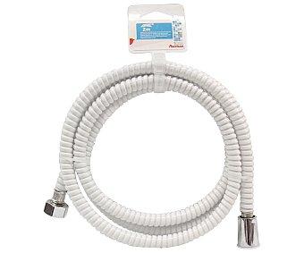 Auchan Flexo de ducha 2m,flexible y de PVC de color blanco auchan