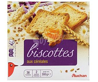 Auchan Biscotes con cereales 300 gramos