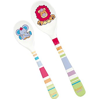 PLANET BABY 221 set 2 cucharas melamina decoradas