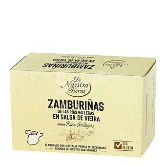 De nuestra tierra Zamburiñas en salsa de vieiras - Sin Gluten 65 g