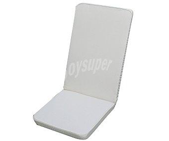 Auchan Cojín para tumbona multiposición de color blanco, desenfundable y de 120x48x6 centímetros 1 unidad
