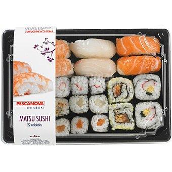 PESCANOVA Matsu sushi makis y nigiris bandeja de 22 unidades