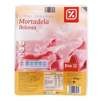 DIA Mortadela con jamon lonchas Sobre 150 g