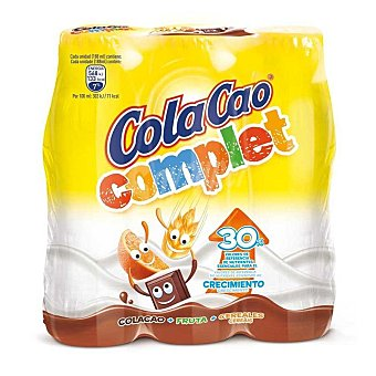 Cola Cao Batido cacao Complet Pack 3 x 188 ml
