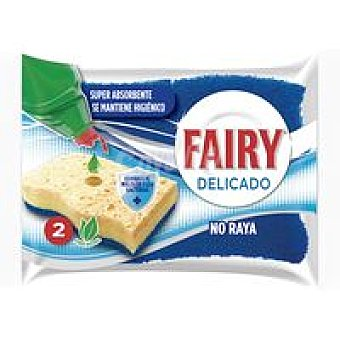 Fairy Estropajo delicado no raya celulosa pack 2 unid