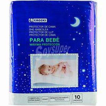 Eroski Protector para cama de bebe 60x60 Paquete 10 unid