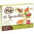 Spoonettes tartaletas con forma de cuchara estuche 42 g 12 unidades Pidy