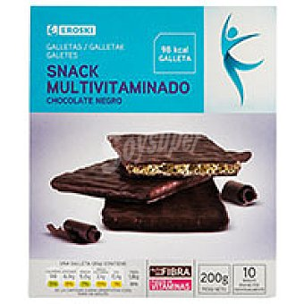 Eroski Snacks de chocolate negro Caja 200 g