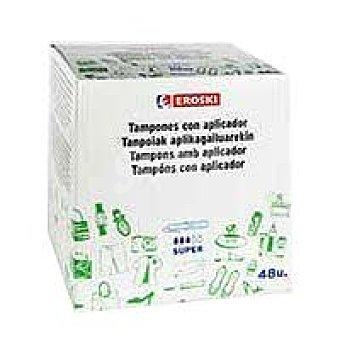 Eroski Tampón aplicador super Caja 48 unid