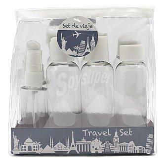 Set de viaje Botellas rellenables de + 50 ml. 1 ud 3 x 100 ml