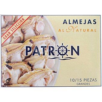 PATRON Almejas coreanas al natural 10-15 piezas Lata de 63 g neto escurrido