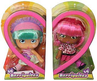 BARRIGUITAS Muñecas individuales con pelo de colores 1 unidad