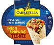 Relleno para fajitas y burritos de pollo y pimientos Bol 300 g Carretilla