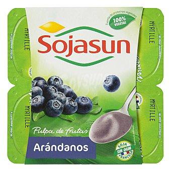 Sojasun Yogur con arándanos Pack de 4x100 g