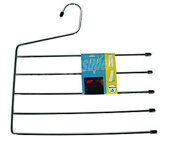 Rozenbal Percha metálica cromada para pantalones con 5 barras 1 Unidad