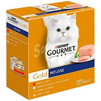 Gourmet Gold mousse para gatos varios sabores Caja 8 tarrinas x 85 g