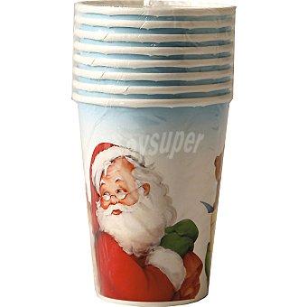 NV CORPORACION vaso decorado Santa Claus paquete 8 unidades 20 cl