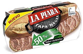 La Piara Tapa Negra Paté -50% Grasa Pack 2 latas x 73 g
