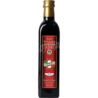 Gionetti Vinagre balsámico de Módena I.G.P Botella 500 ml