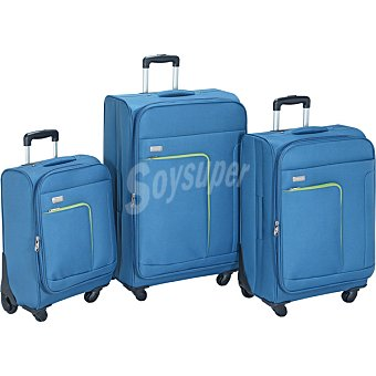 ORALLI Melbourne Trolley spinner en color azul y verde 59 cm