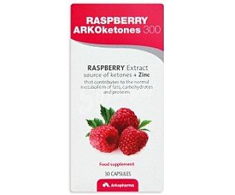 ARKOKETONES 300 Complemento alimenticio a base de frambuesa y zinc, para el metabolismo de grasas, carbohidratos y proteínas, 30 Cápsulas 21,1 Gramos