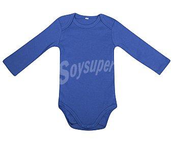 In Extenso Lote de 7 bodies de algodón con manga larga, color blanco con estampados en azul, talla 86 7u