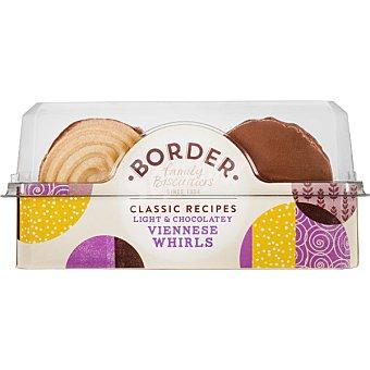 BORDER BISCUITS Galletas de mantequilla Viennese con chocolate  Estuche de 150 g