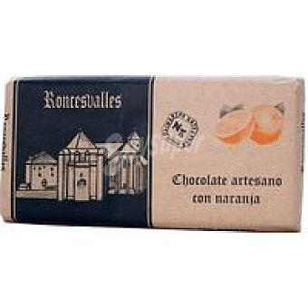 Roncesvalles Chocolate puro con naranja Tableta 125 g