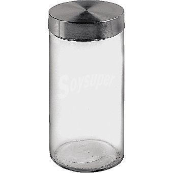 UNIT Tarro de vidrio con tapa de acero 125 l