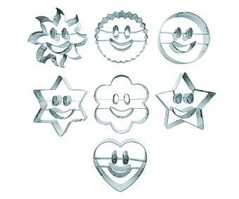 IBILI Set de 7 corta pastas estañados, figuras con sonrisa 1 Unidad