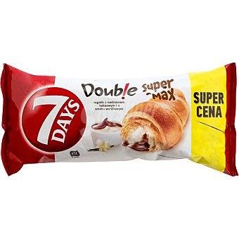 7 Days Double Super Max croissant relleno de crema de vainilla y chocolate Envase 110 g