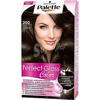 Palette Schwarzkopf Tinte Perfect Gloss Color nº 200 negro espresso con acondicionador de jojoba sin amoniaco Caja 1 unidad