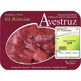RINCON Ragout de avestruz peso aproximado Bandeja 350 g