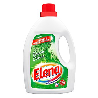 Elena Detergente máquina líquido gel Frescor Colonia botella 45 dosis botella 45 dosis