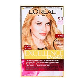 L'Oréal Paris Coloración Permanente nº9.3 Rubio Claro Dorado de Excellence 1 unidad