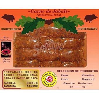 MONTEGUSTO Jabali Chorizo para barbacoa peso aproximado Envase 500 g