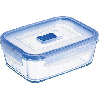 LUMINARC Pure Box Active hermetico rectangular con tapa transparente y azul 82 cl 82 cl