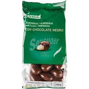 Eroski Almendras con chocolate negro Bolsa 150 g