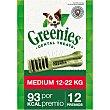 Snacks dentales para perros entre 12-22 kg Envase 12 unidades Greenies