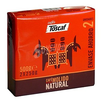 Toscaf Café molido natural 2 x 250 g
