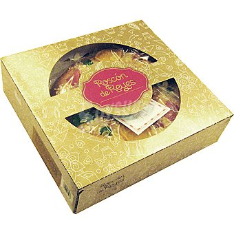 EL CORTE INGLES roscón de Reyes relleno de mazapán pieza 300 g