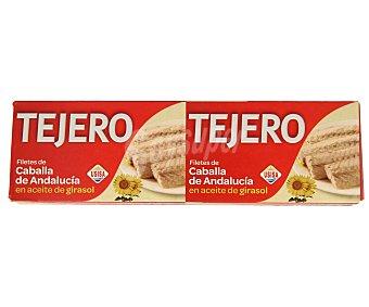 Tejero Filetes de caballa de Andalucía en aceite de girasol 120 gramos