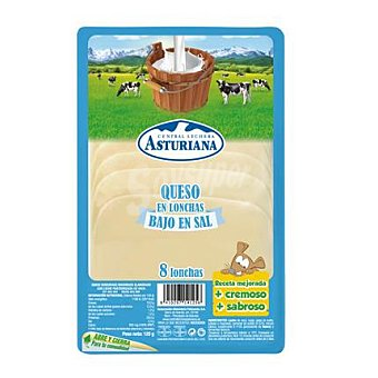 La Asturiana Queso en lonchas bajo en sal 120 g