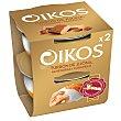 Yogur con turrón de Jijona, almendras y caramelo pack 2 unidades 115 gr Pack 2 unidades 115 gr Oikos Danone