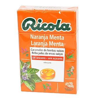 Ricola Caramelo Naranja Menta sin azúcares 50 g