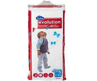 Auchan Pañales Aprendizaje Evolution para Niños de 12 a 18 Kilogramos 40 Unidades