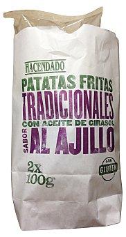Hacendado Patatas fritas lisas ajillo Paquete 2 unidades de 100 gramos